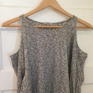 Etam cold shoulder grey long sleeve top - size S